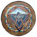 Painted Native American Hand Drum