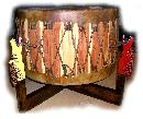 native american powwow drum stand