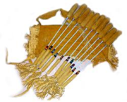 native american beaded pow-wow drum sticks