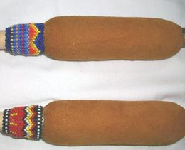 beaded hand drum sticks