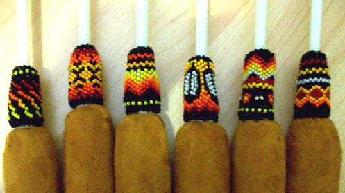 Native american pow-wow drum sticks